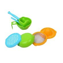A Set of 7 Pieces Baby Rice/Vegetables/Fruits Grinding Supply Eating Utensil