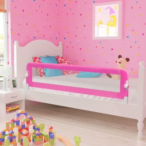 Toddler Safety Bed Rail 150 x 42cm | Pink Toddler Bed Guard