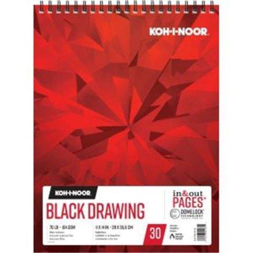 Koh - I - Noor K26170221312 11 x 14 in. Black Drawing Paper