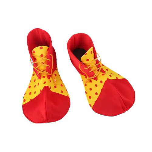 Cloth Clown Shoes Pretend Games Shoes For Adults Party Clown Costume Supplies, Red and Yellow