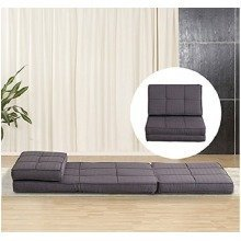 Homcom Single Sofa Bed Fold out  Couch Lounger Grey