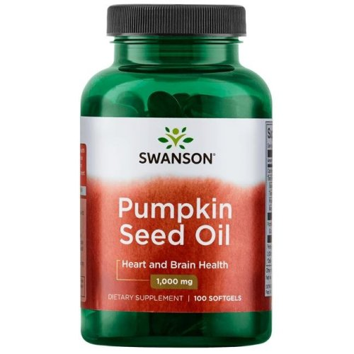 SWANSON PREMIUM PUMPKIN SEED OIL SOFTGELS 1000mg 100 CAPSULES
