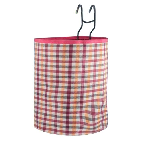 [Plaid-7] Waterproof Canvas Bicycle Basket Foldable Basket for Bike