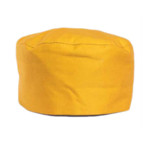 Japanese Fashion Cook Hats Hotel Cafe Flat Hat Adjustable Chef Hats-Yellow