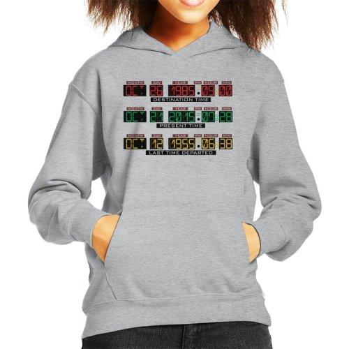 Back To The Future Delorean Time Machine Kid's Hooded Sweatshirt