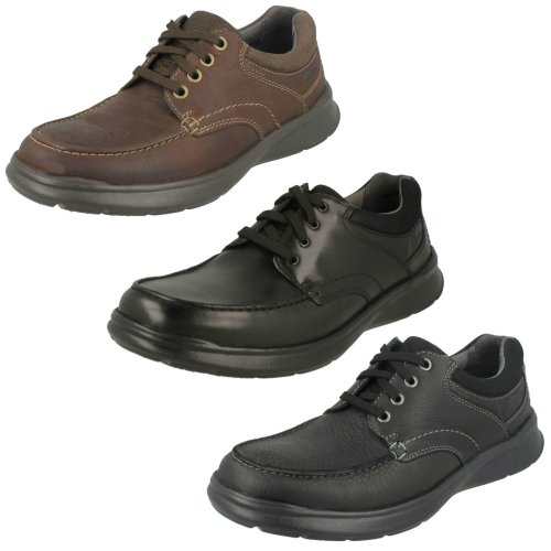 Mens Clarks Casual Shoes Cotrell Edge - H Fit