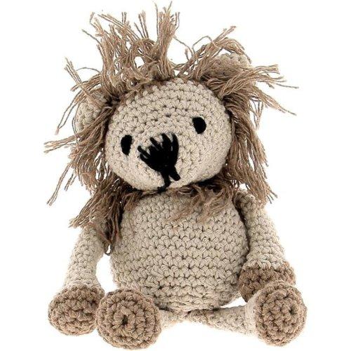Hoooked PAK132 Lion Crochet Yarn Kit, Beige & Taupe