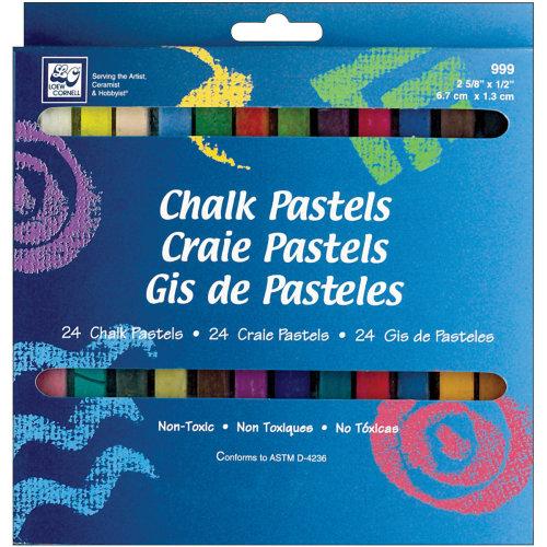 Chalk Pastels 24/Pkg-Assorted Colors