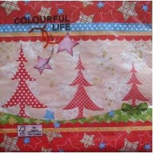 4 x Christmas Paper Napkins - Christmas Tree - Ideal for Decoupage