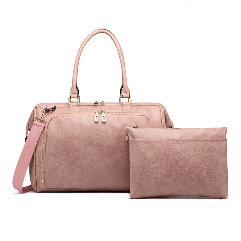 4842ce45c74fd ... 3pc Miss Lulu Faux Leather Baby Changing Bag Set - 2 ...
