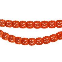 2PCS Halloween Yellow Pumpkin Garland Creative House Party Decor 30CM