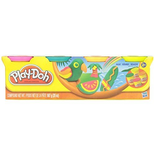 Play-Doh Classic Tropical Colors 4 Can Pack Arts && Crafts 20oz.