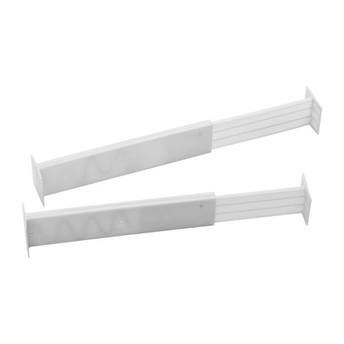 Set Of 2 White Drawer Dividers | Expandable Drawer Organisers