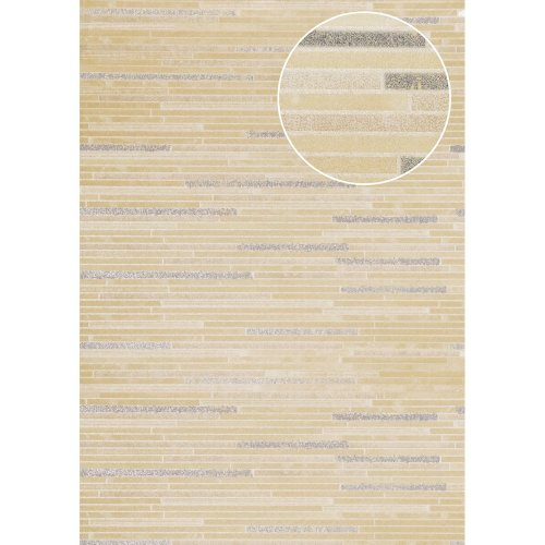 Atlas ICO-5076-5 Stone tile wallpaper shimmering cream bronze 7.035 sqm