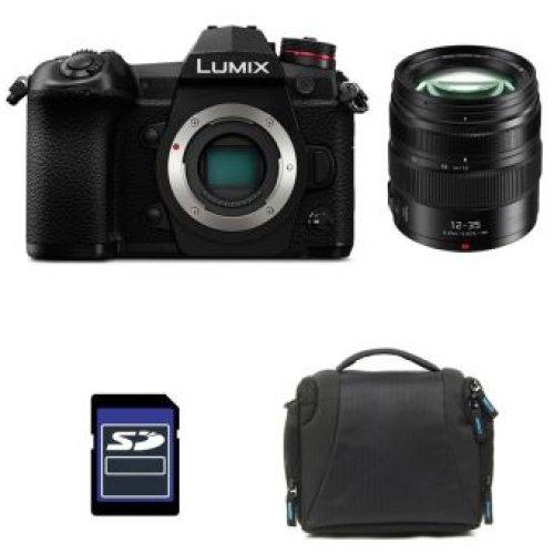 PANASONIC DMC-G9 Black + 12-35mm F2.8 II ASPH O.I.S + Bag + 16GB card