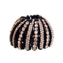 Luxurious Rhinestones Hair Ponytail Clip Hair Bun Decor Hair Accessories, No.1