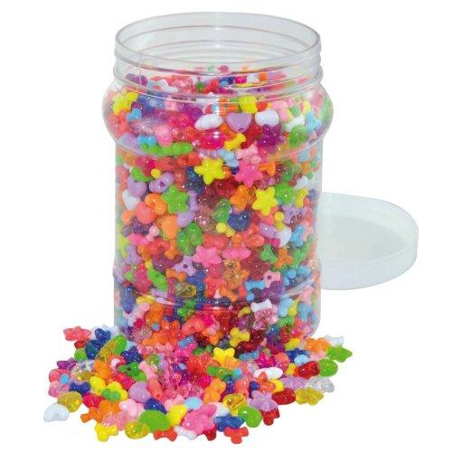 Pbx2470706 - Playbox - Plastic Beads in Jar (hearts, Star, Propellers) -