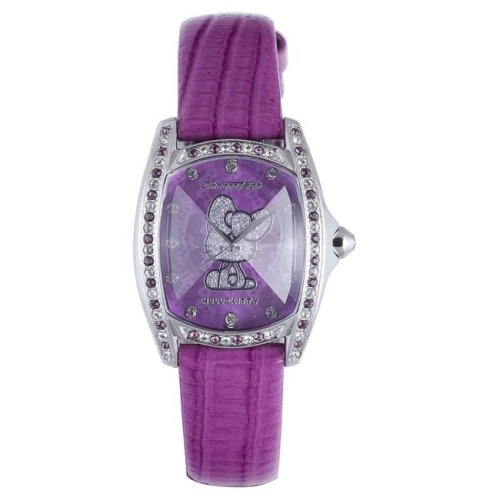 Hello Kitty CT.7094SS-38 Stainless Steel Purple Leather Watch