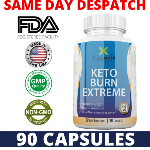 Keto Burn Extreme - Best Ketogenic Weight Loss Capsules Diet Supplements Fat Burner Ketosis Appetite Suppressant Tablets That Boosts Energy - 90 Capsules