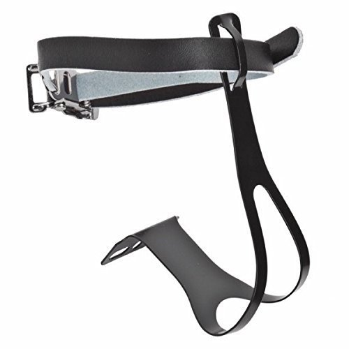 Sunlite Racing Toe Clips w Leather Strap XL Black