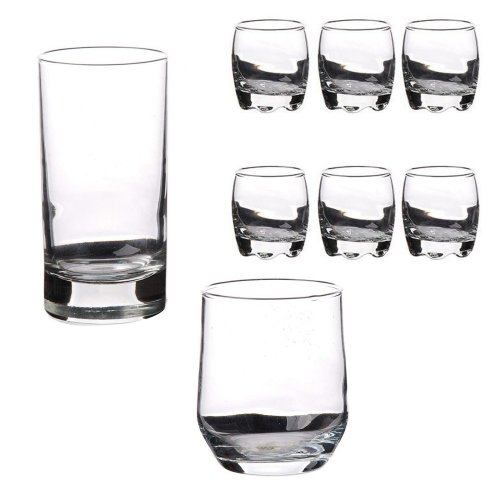 Set of 6 Glass Dessert Cups Verrines