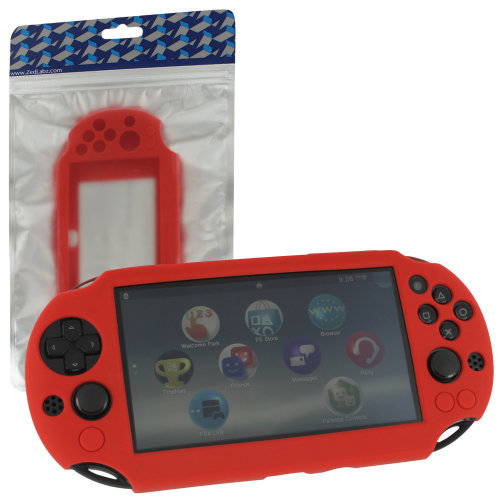 Protective case for PS Vita 2000 Slim Sony SC-01 silicone skin ZedLabz – red