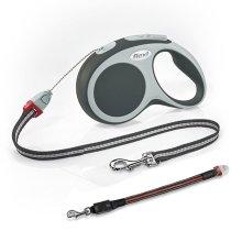 Flexi Vario Cord Dog Lead Black Medium 5M & Flashing Cord Lead Small/Medium