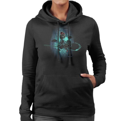 Shadow Of The Little Witch Kikis Delivery Service Women's Hooded Sweatshirt