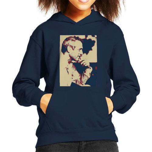 Paul Newman London 1971 Poster Style Kid's Hooded Sweatshirt