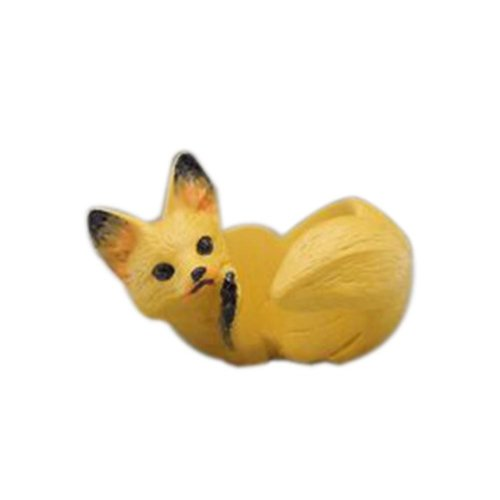 Creative Cute Handmade Resin Simulation Yellow Fox Ring