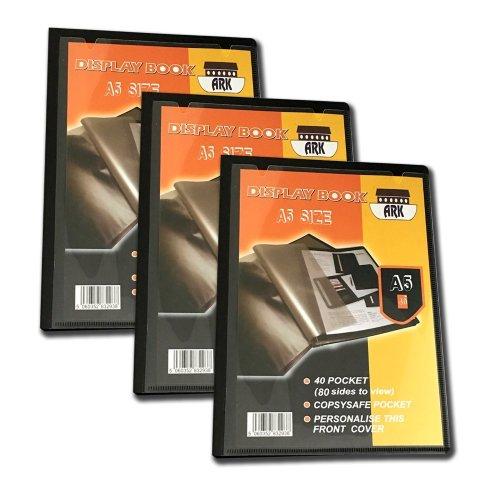 3 x Ark A5 Display Book (Presentation) (40 Pockets)