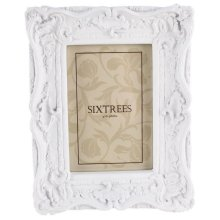 Sixtrees Chelsea 4 x 6 Photo Frame | White Shabby Chic Photo Frame