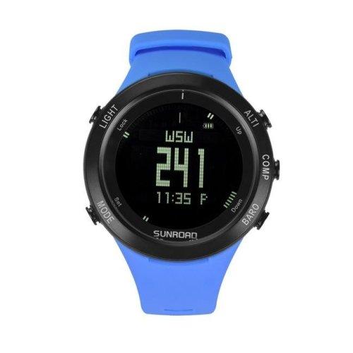 Sunroad FR922B Blue Unisex Waterproof Digital Sports Heart Rate Watch - Blue