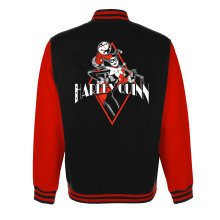 Extra Large Adult's Harley Quinn Varsity Jacket -  harley quinn diamond varsity jacket x