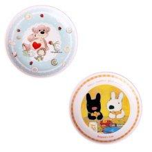 Set Of 2 Ceramic Cartoon  Animal Round  Dishes  Chicken Dishes,Blue&Yellow