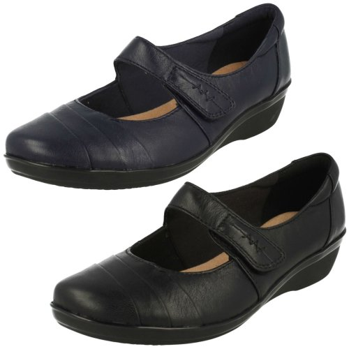 Ladies Clarks Cushion Soft Smart Shoes Everlay Kennon - D Fit