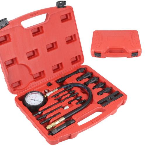 UK 17 pcs Diesel Engine Compression Tester Kit Tool Set Automotive Compressor