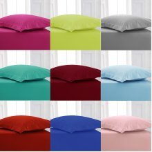 Children Bunk Bed Fitted Sheet Polycotton Plain Bed Linen