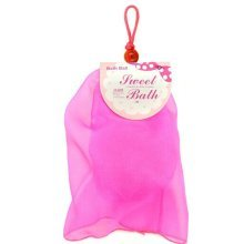 New Style Set of 2 Dreamlike Organza Bath Ball Body Cleansing Scrubber/Rose Red