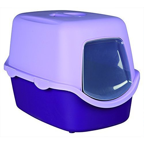 Trixie Vico Cat Litter Tray With Dome, 40 x 40 x 56 Cm, Purple/lilac -cm -  40 litter tray trixie vico cat 56 cm purplelilac hooded mess dome