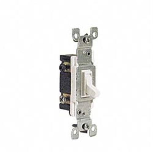 Leviton White Residential Grade 3-Way AC Quiet Switches Toggle  226-1453-2W