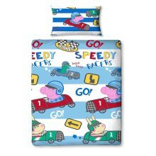 Peppa Pig George Speed Single Duvet Cover Set Polyester