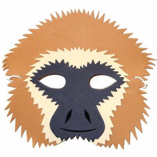 Gibbon Monkey Foam Mask - by Blue Frog Toys - Children & Grown Ups - Masquerade