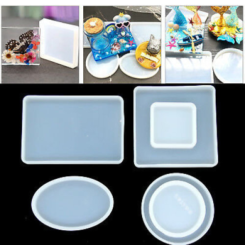 6X Silicone Clear Mold Polymer Clay Resin Casting Craft Jewelry Making Mould UK