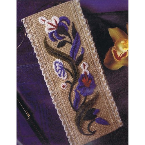 Blue Garland Bookmark Embroidery Kit Crafts Flowers Floral Gift