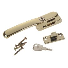 Craftsman Casement Fastener - Locking - Gold