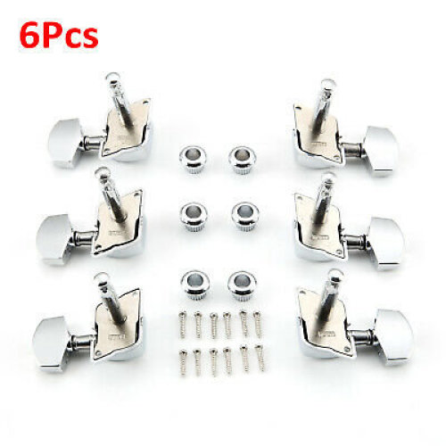 6Pcs Acoustic Guitar Tuning Pegs Tuners Machine Heads Chrome Electric Part 3R3L