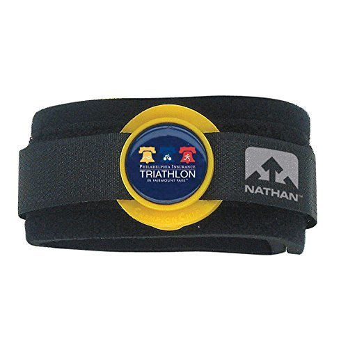Nathan Timing Chip Ankleband - Black, N/A