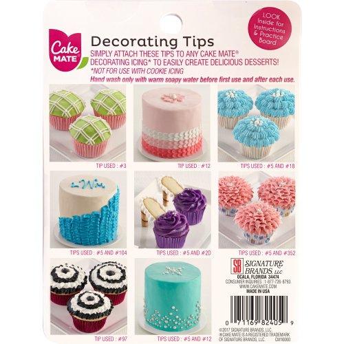 Cake Mate(R) Decorating Tips 8/Pkg-