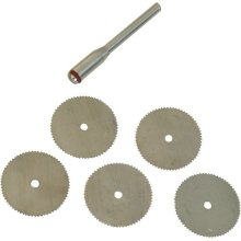 6 Piece 22mm Dia HSS Saw Blade Set -  tool 22mm cutting rotary steel silverline hss saw set 6pce disc 656628 kit blade dia